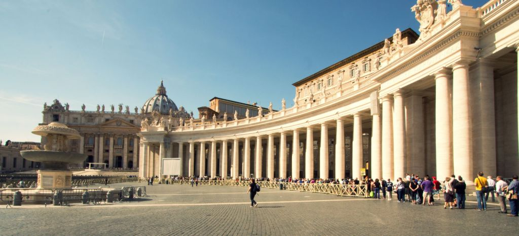 Vatican City, a city-state surrounded by Rome, Italy, is the headquarters of the Roman Catholic Church