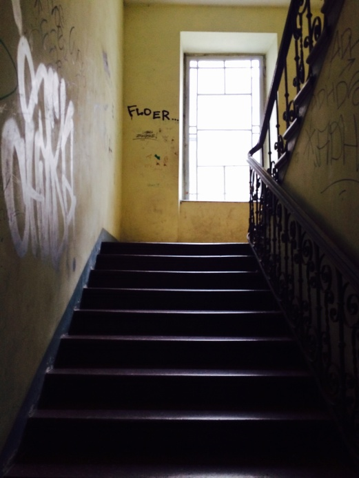 Stairs of the hostel