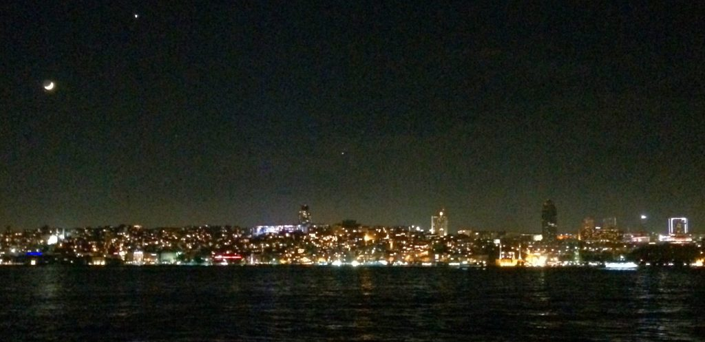 Istanbul at night - Unfortunately, picture was taken with a phone camera
