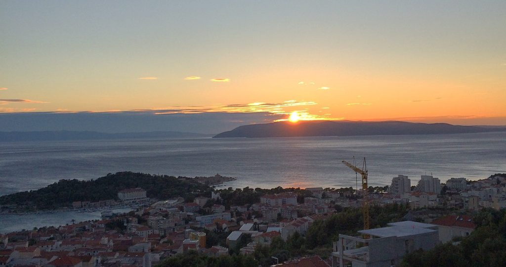 A sunset in Makarska