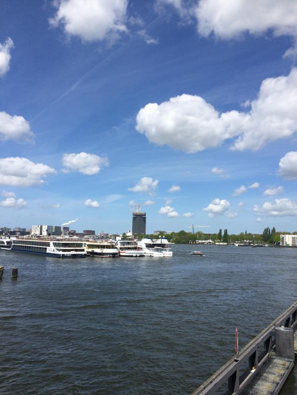 Amsterdam North from other side of IJRiver