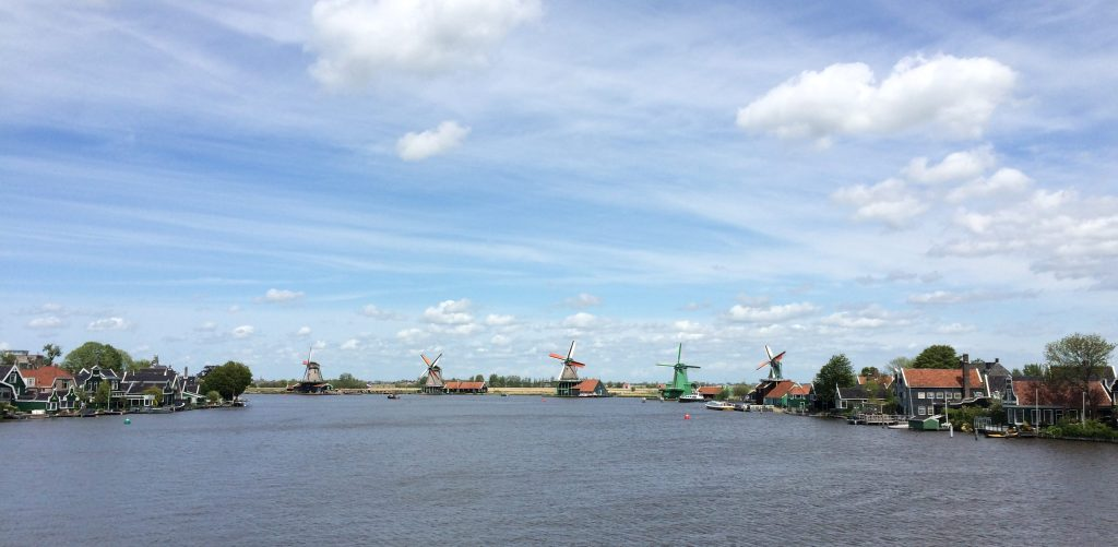 The old windmills of Zaanse Schans