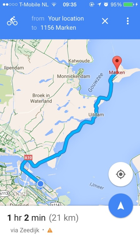 Route that was suggested by google maps