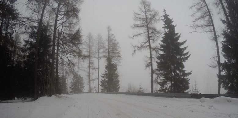 Into the mist - A view of high Tatras
