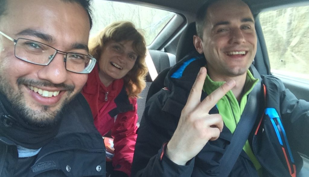 Me, Dimo and his friend on the way back!