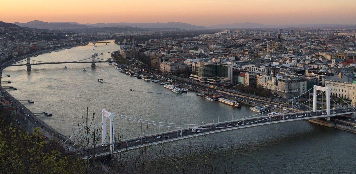 Sunset at Budapest