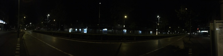 Waiting for night bus at Ijburg