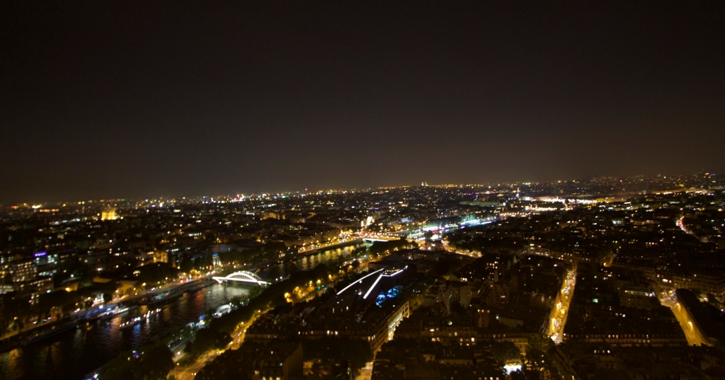 Paris city as seen from Eiffel Tower