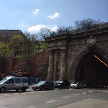 Tunnel below Buda Castle