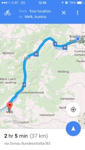 The cycling path of Wachau