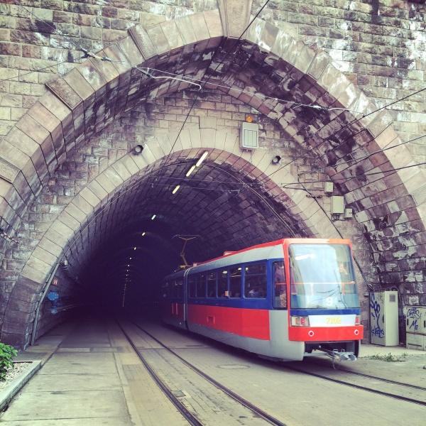 A tram in Bratislava