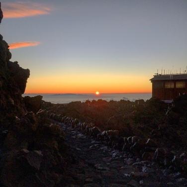 Sunrise at upper station